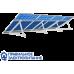 Система креплений 4 солнечных панелей на плоскую крышу