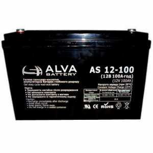 Аккумуляторная батарея Alva AS 12-100 (12 В, 100 А час)