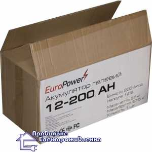 Аккумуляторная батарея EuroPower GL 12-200 Аh