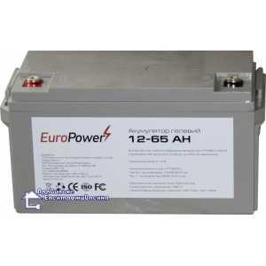 Аккумуляторная батарея EuroPower GL 12-65 Аh