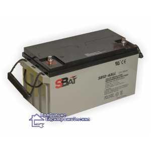 Гелевая аккумуляторная батарея Sbat SB 12-65LL (65 А/ч )