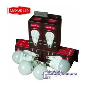 Комплект 5 шт. светодиодных лампочек MAXUS LED-249 A60 10W